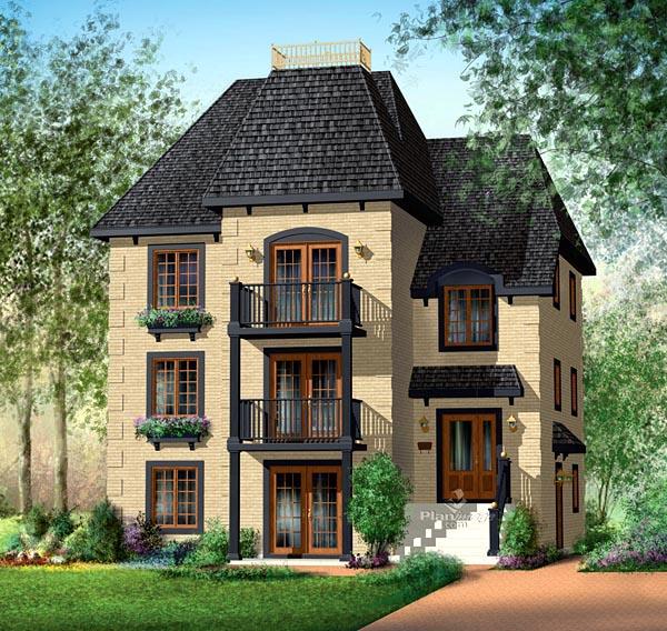 Multi family plan 49817 at for Multi family house plan