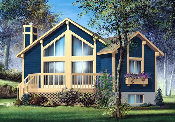 Contemporary House Plan 49826 Elevation