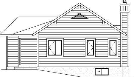 Contemporary House Plan 49826 Rear Elevation