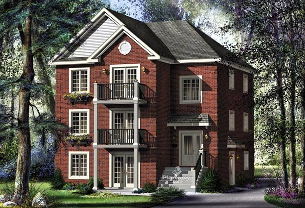 Multi family plan 49851 at for Multi family home plans