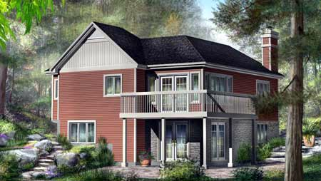 Traditional House Plan 49875 Rear Elevation