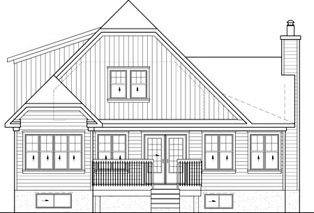 Traditional House Plan 49879 Rear Elevation