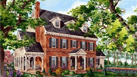 House Plan 49889 Elevation
