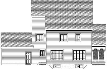 House Plan 49889 Rear Elevation