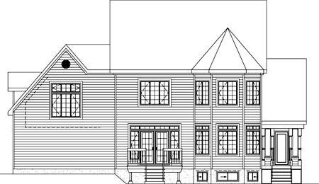 House Plan 49937 Rear Elevation