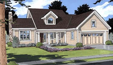 Country House Plan 50013 Elevation