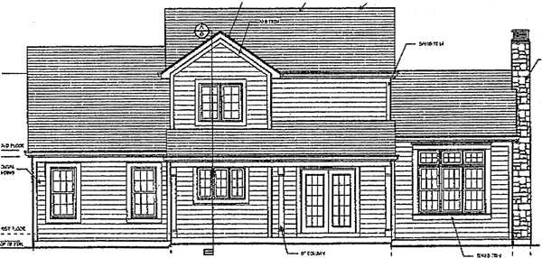 Country House Plan 50013 Rear Elevation