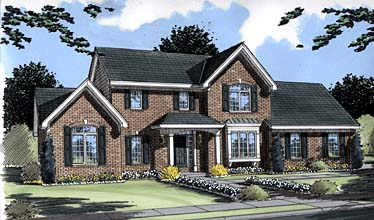 Colonial Traditional House Plan 50033 Elevation