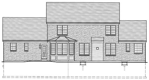 Colonial Traditional House Plan 50033 Rear Elevation