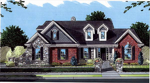 Bungalow Country Traditional House Plan 50053 Elevation