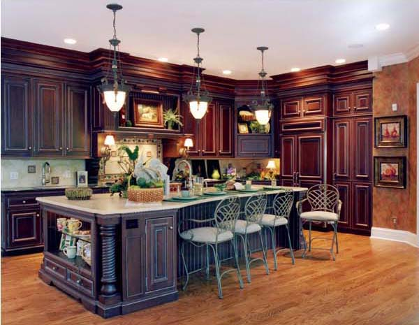 A sizeable island in the kitchen provides an abundance of workspace and accommodates more casual dining.