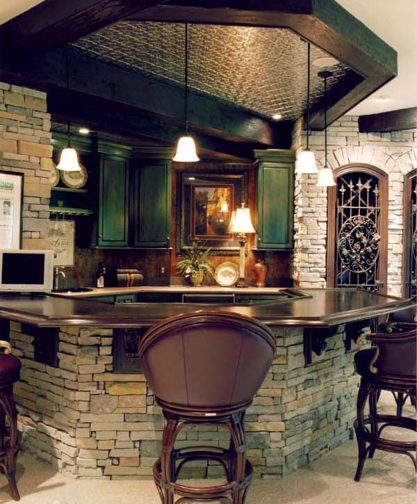 The lower level's bar.