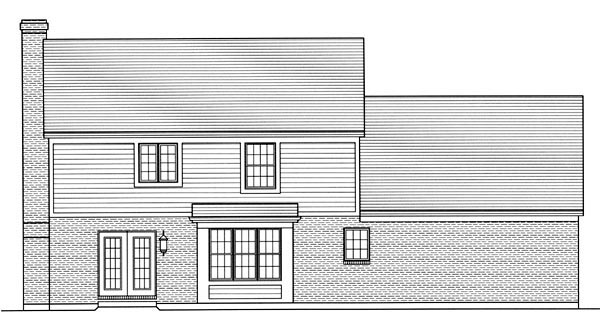 Traditional House Plan 50064 Rear Elevation