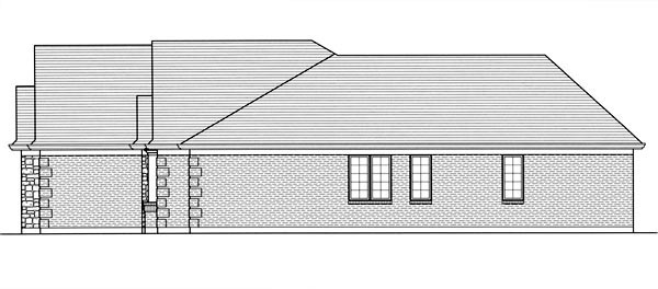 Traditional House Plan 50069 with 3 Beds, 2 Baths, 2 Car Garage Picture 2