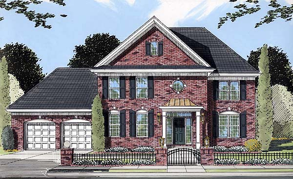 Colonial Southern House Plan 50080 Elevation
