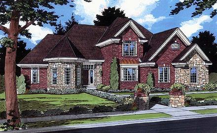 Traditional House Plan 50082 with 4 Beds, 4 Baths, 3 Car Garage