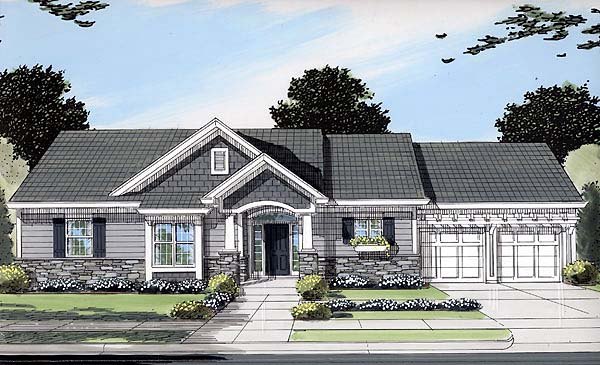 Front Elevation Ranch Homes : House plan at familyhomeplans