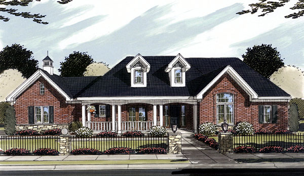 Ranch House Plan 50095 Elevation