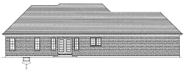 Ranch House Plan 50095 Rear Elevation