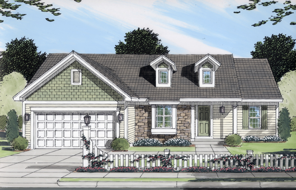 Ranch House Plan 50098 Elevation