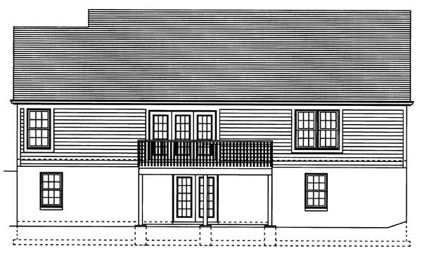 Ranch House Plan 50098 Rear Elevation
