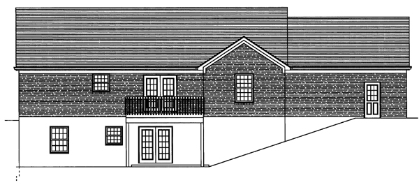 Traditional House Plan 50099 Rear Elevation