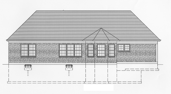 Ranch Southern House Plan 50103 Rear Elevation