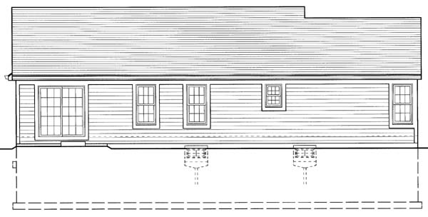 Country House Plan 50110 Rear Elevation