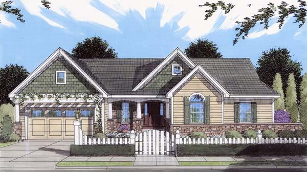 Craftsman House Plan 50111 Elevation
