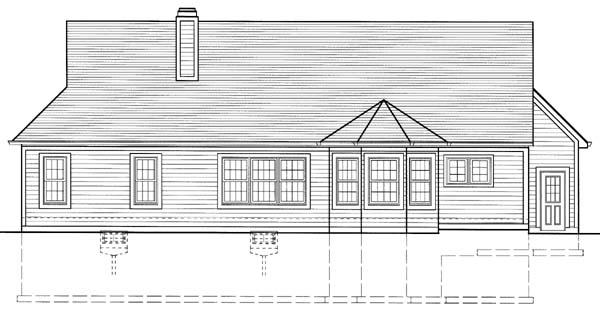 Craftsman House Plan 50111 Rear Elevation