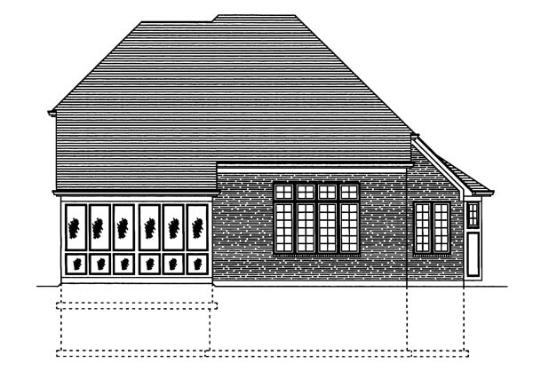Traditional House Plan 50115 Rear Elevation