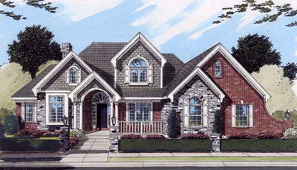 Traditional House Plan 50116 Elevation