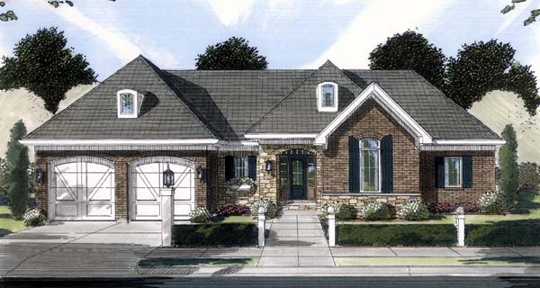 Ranch House Plan 50122 Elevation