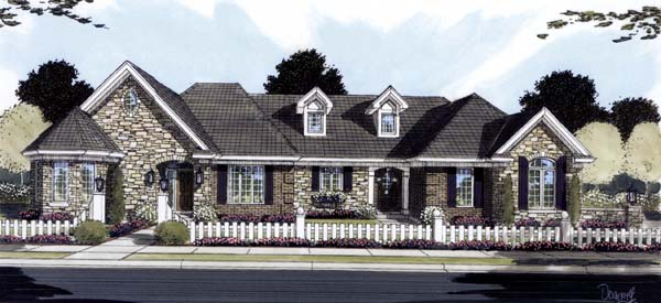 Ranch House Plan 50124 Elevation