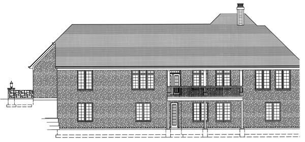 Ranch House Plan 50124 Rear Elevation
