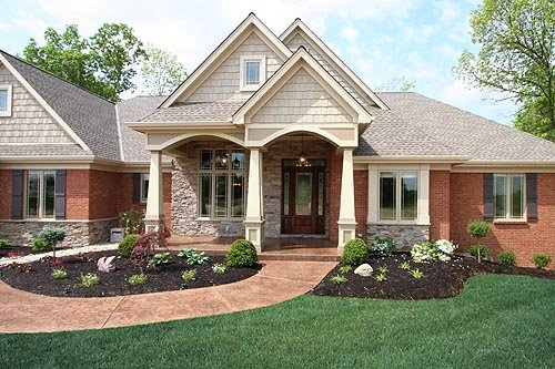 Exterior House Paint Color Combinations Red