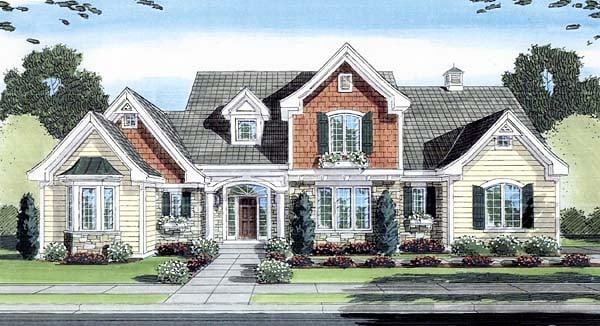 European House Plan 50144 Elevation