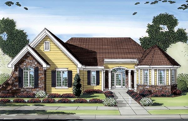 Craftsman Ranch House Plan 50153 Elevation