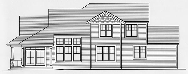 Craftsman House Plan 50165 Rear Elevation