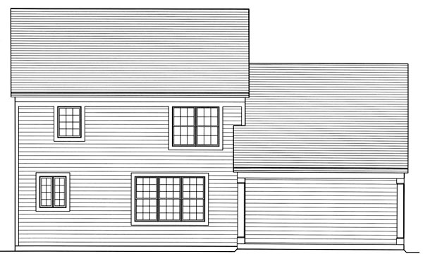 Traditional House Plan 50172 Rear Elevation