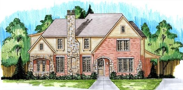 Tudor House Plan 50175 Elevation