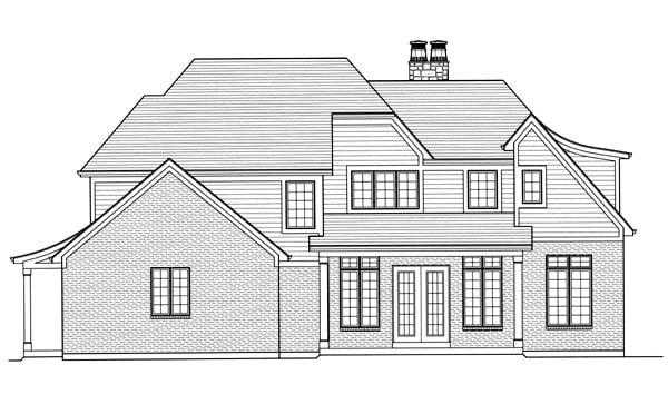 Tudor House Plan 50175 Rear Elevation