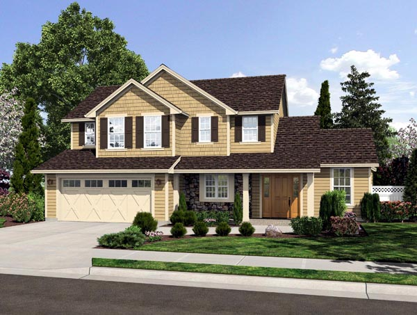 Traditional House Plan 50185 Elevation