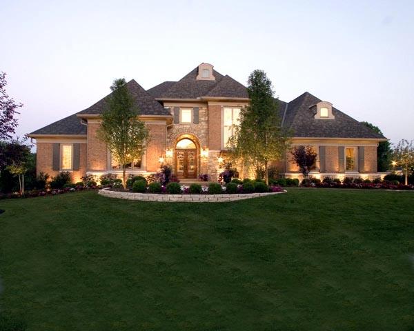 european tudor house plan 50187 elevation