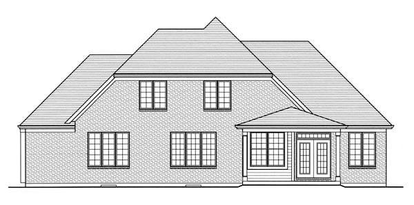 Craftsman House Plan 50190 Rear Elevation