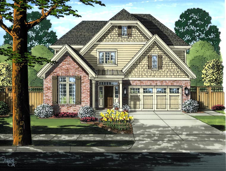 Cottage Craftsman House Plan 50191 Elevation