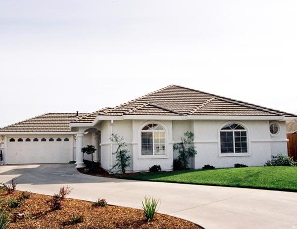Mediterranean House Plan 50202 with 3 Beds, 2 Baths, 2 Car Garage Elevation