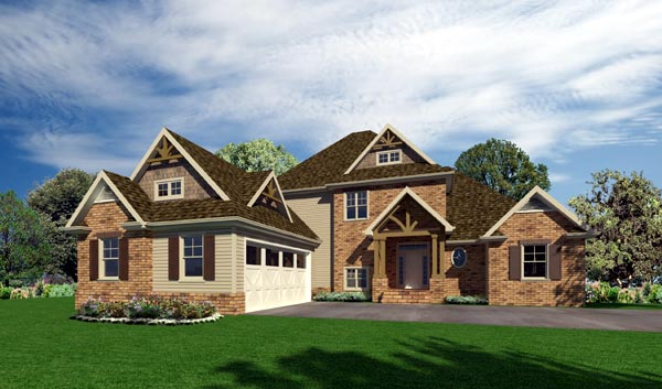 Craftsman House Plan 50229 Elevation