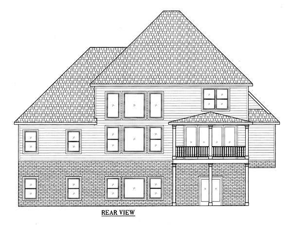 Craftsman House Plan 50229 Rear Elevation