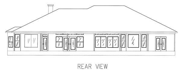 Mediterranean House Plan 50232 Rear Elevation